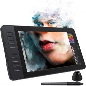 tablette graphique avec stylet et visage