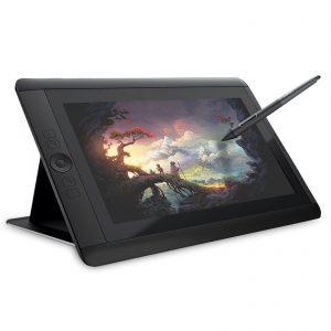tablette graphique noire avec stylet
