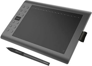 tablette graphique avec stylet sans écran noire