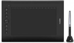 Huion H610 Pro V2 avec son stylet graphique