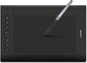 Huion H610 Pro V2 utilisée avec le PW100