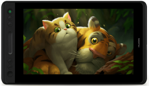 Huion Kamvas Pro 13 avec une image de tigres