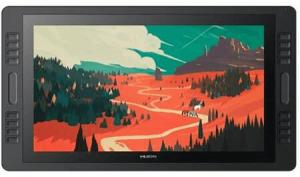 Huion Kamvas Pro 20 vue de face représentant un paysage