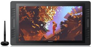 Écran graphique Huion Kamvas Pro 20 vu de face avec un dessin d'astronaute