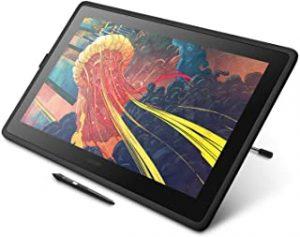 Wacom Cintiq Pro 16 sur son support représentant un magnifique dessin