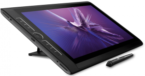 La tablette graphique autonome sur son support inclinable