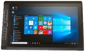 La Wacom MobileStudio Pro 16 ouverte sur l'écran d'accueil Windows 10