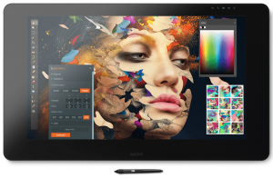 Tablette graphique Wacom Cintiq Pro 24 ouverte sur Photoshop