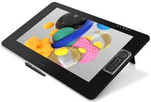 Tablette graphique Wacom Cintiq Pro 24 sur ses deux pieds rétractables