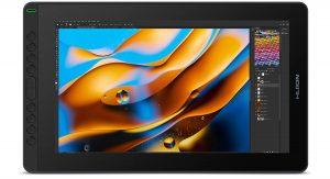 Tablette graphique Huion Kamvas 16 ouverte sur Photoshop